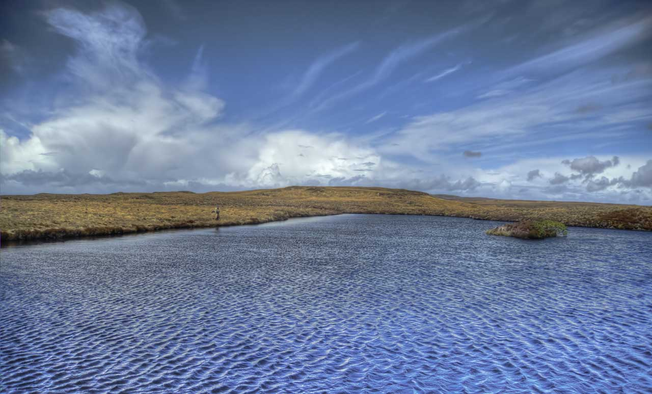 Trout fishing in spring time on the Isle of Lewis