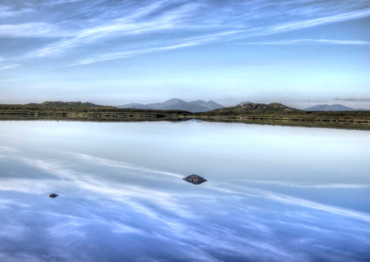 Early morning lochside view on the Isle of Lewis