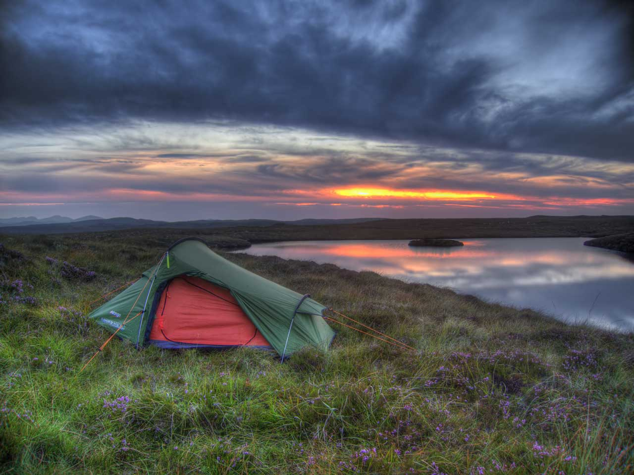 Sunset while camping on the Isle of Lewis