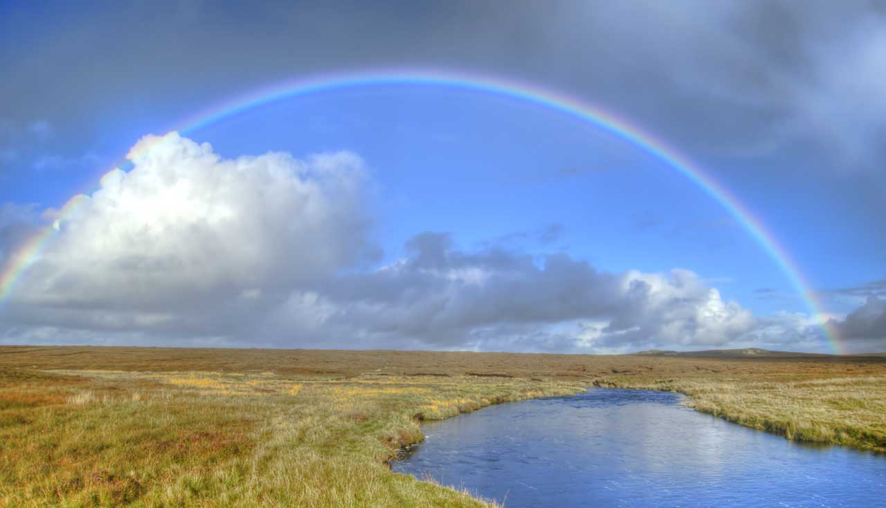 Rainbow close to Dollag's Cottage on the Isle of Lewis