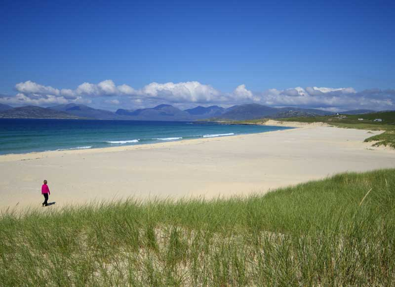 Typical Hebridean beach view
