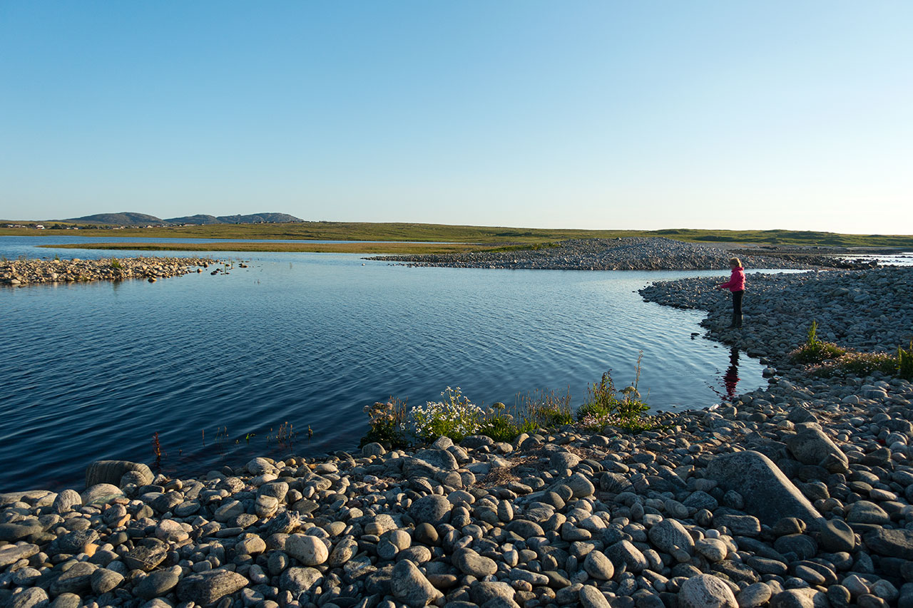 An evening cast for trout on the Isle of Lewis