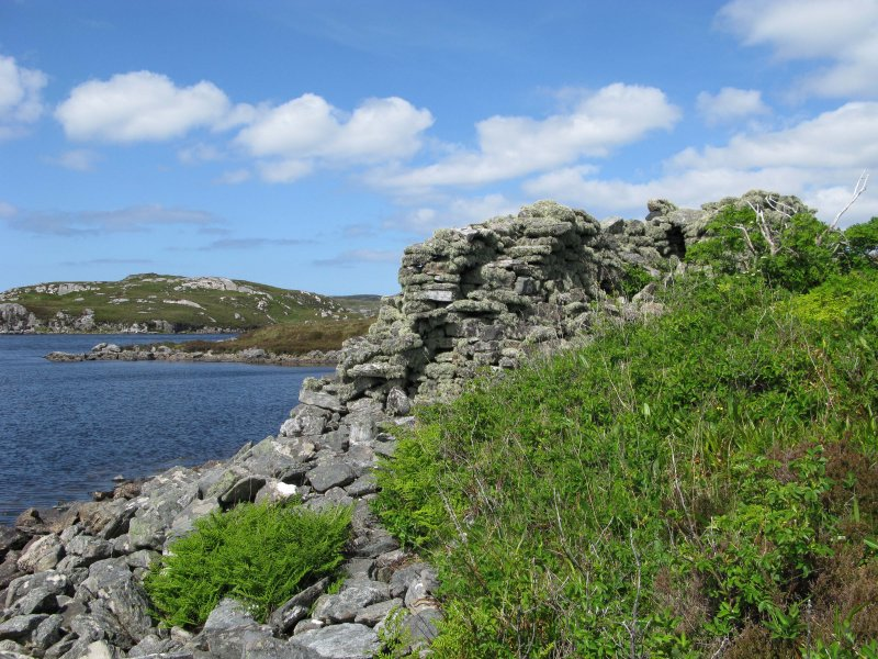 Loch Barabhat broch on the Isle of Lewis