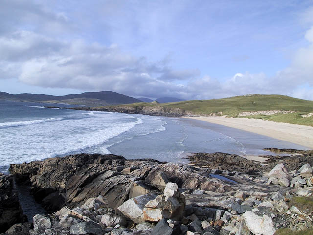 Beach on the Isle of Harris coastline