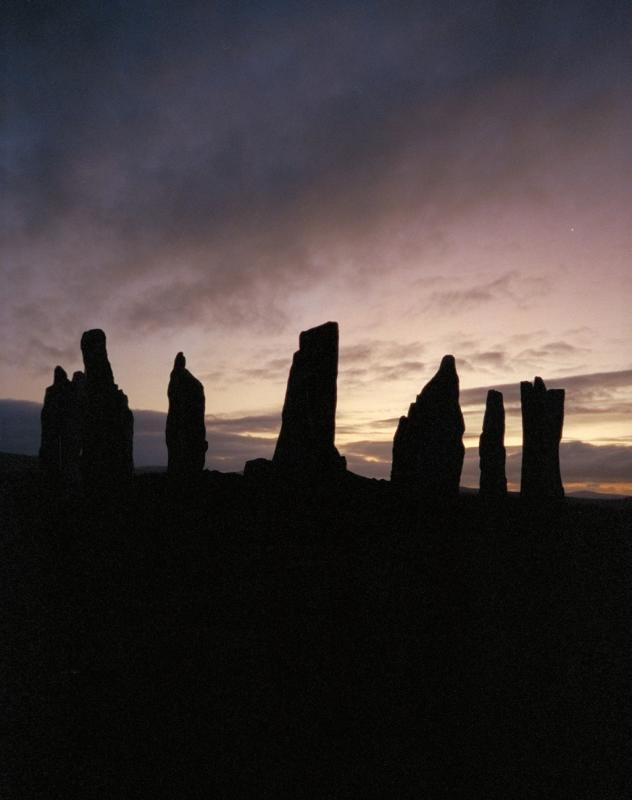 Callanish stone circle at sunset