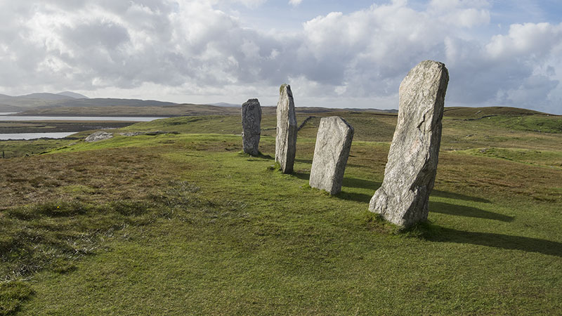 The West Row at Callanish stone circle