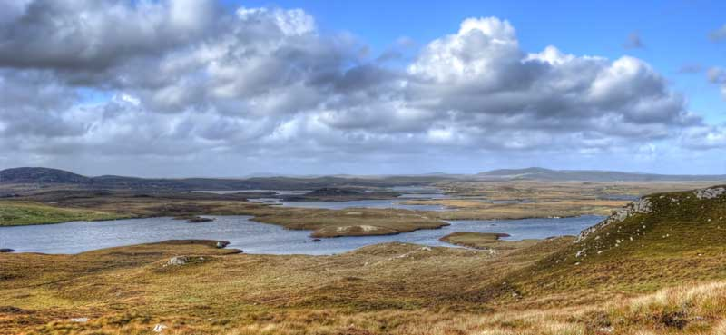 Hundreds of trout lochs on the Isle of Lewis