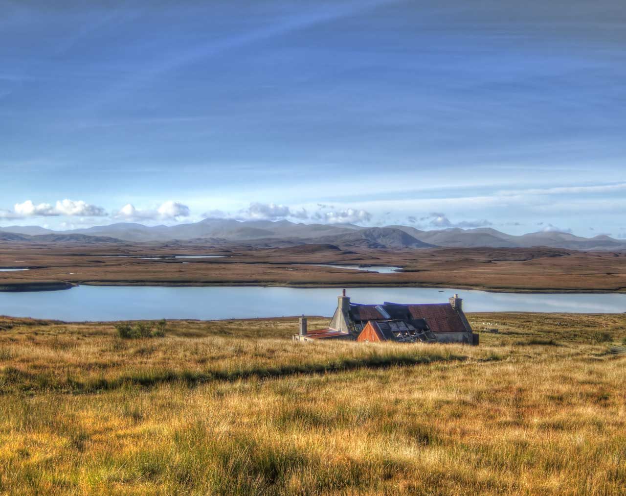 Landscape from Achmore on the Isle of Lewis