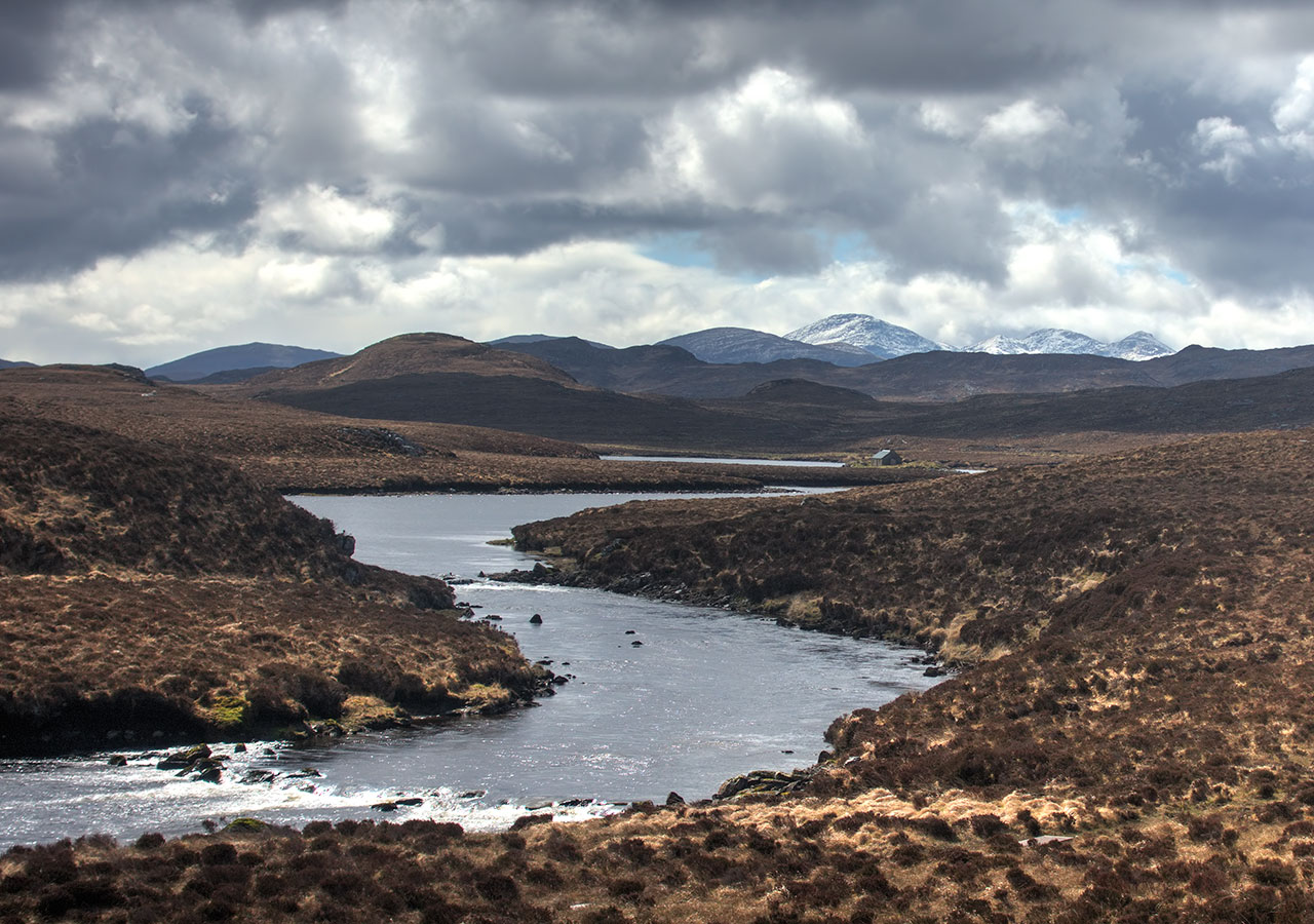 Early season salmon fishing in the Hebrides