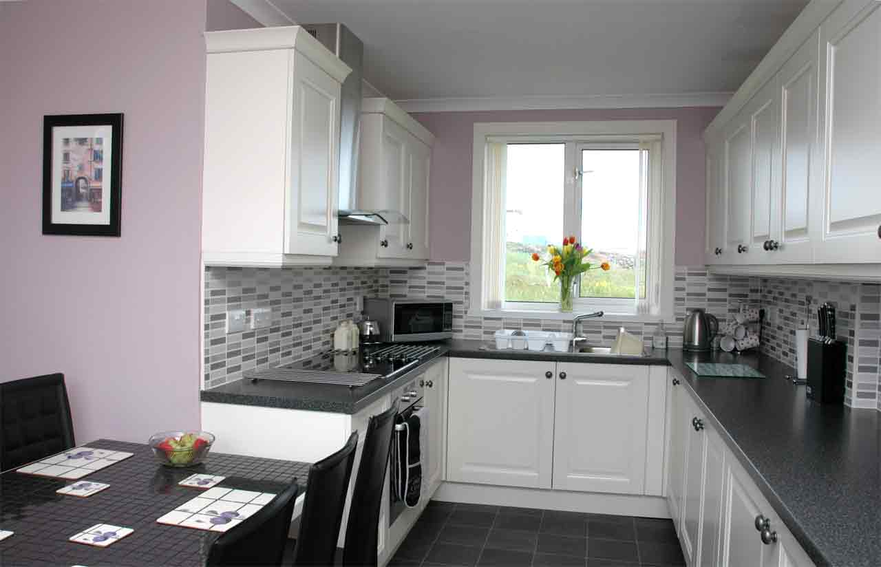 The kitchen in Dollag's Cottage self catering accommodation
