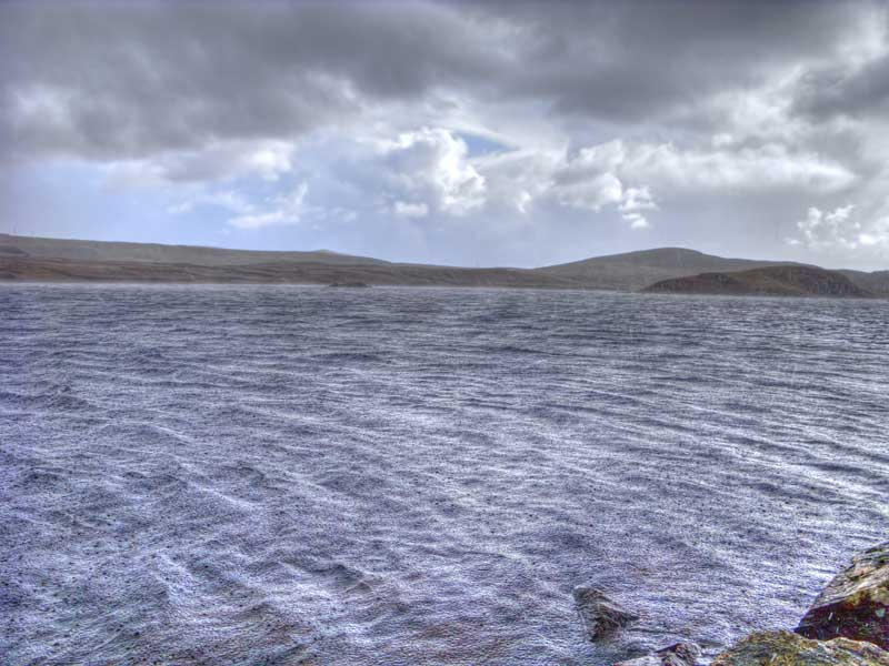 Isle of Lewis loch in a squall