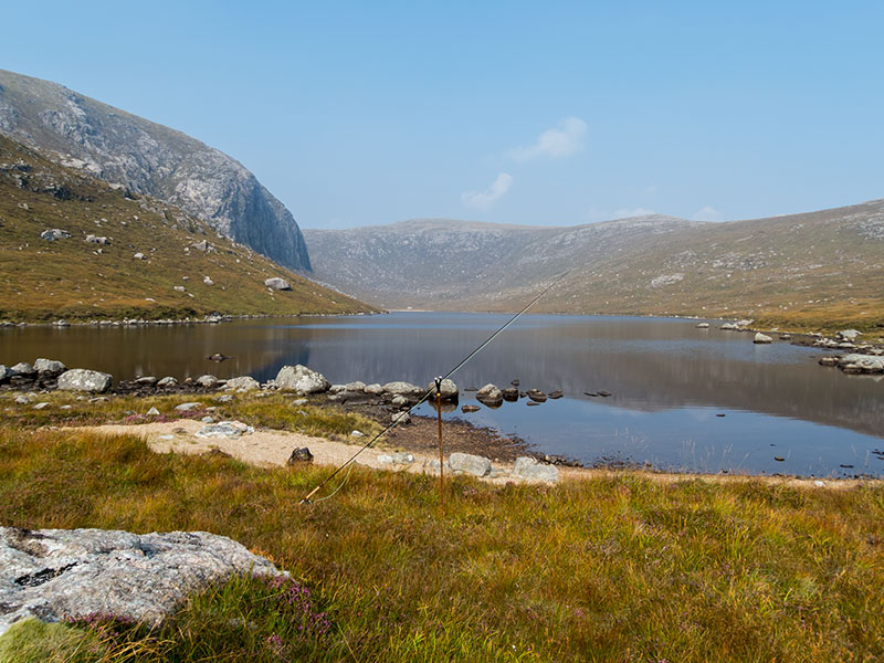 A very remote trout and salmon loch on the Isle of Lewis