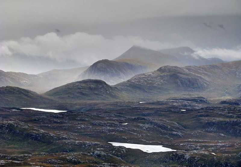 The hills of Harris from the Isle of Lewis